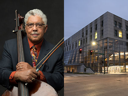 Rufus Reid open rehearsal with Johnson County Landmark