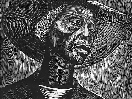 """Sharecropper"" by Elizabeth Catlett"