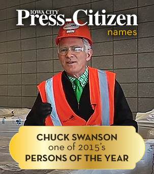 Press-Citizen names Chuck Swanson one of 2015's Persons of the Year