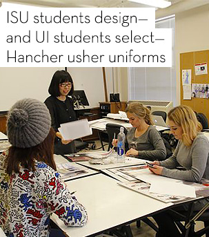 SU students design--and UI students select--Hancher usher uniforms