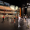 Ballet class on the Hadley Stage at Hancher Auditorium, August 27, 2020 (Photo: Justin Torner)