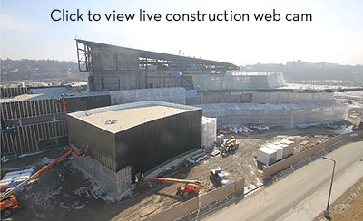 View live web cam of Hancher construction site