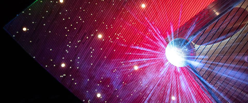 Hancher Illuminated (Photo: Justin Torner)