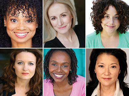 Monica McSwain, Shannon Holt, Elisa Bocanegra, Cerris Morgan-Moyer, Inger Tudor, and Patti Yasutake of L.A. Theatre Works