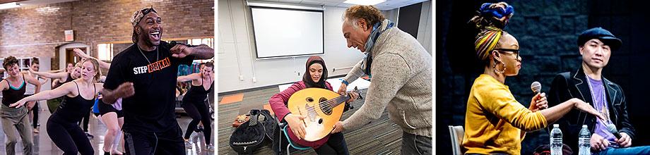 Step Afrika!, Rahim Al Haj, and Camille A. Brown on campus