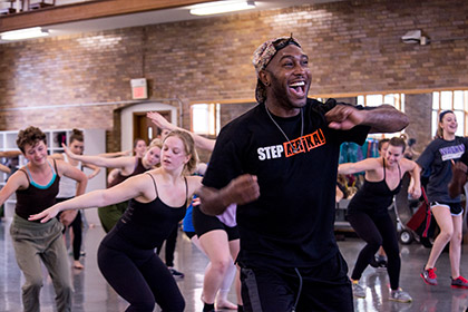Step Afrika! masterclass with UI dance students
