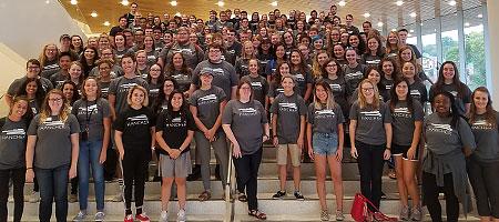 Student employees of Hancher Auditorium